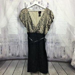 Torrid Cheetah Print Faux Wrap Dress & Belt 18